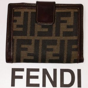 FENDI Zucca Zucchino Compact Wallet